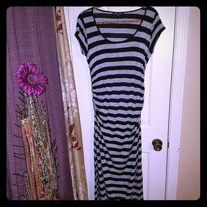 Alloy Cinched waist Side Slit Maxi Dress Size XL